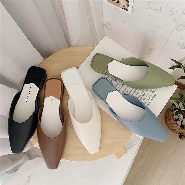【shoes】上品質スクエアトゥ女性シューズ