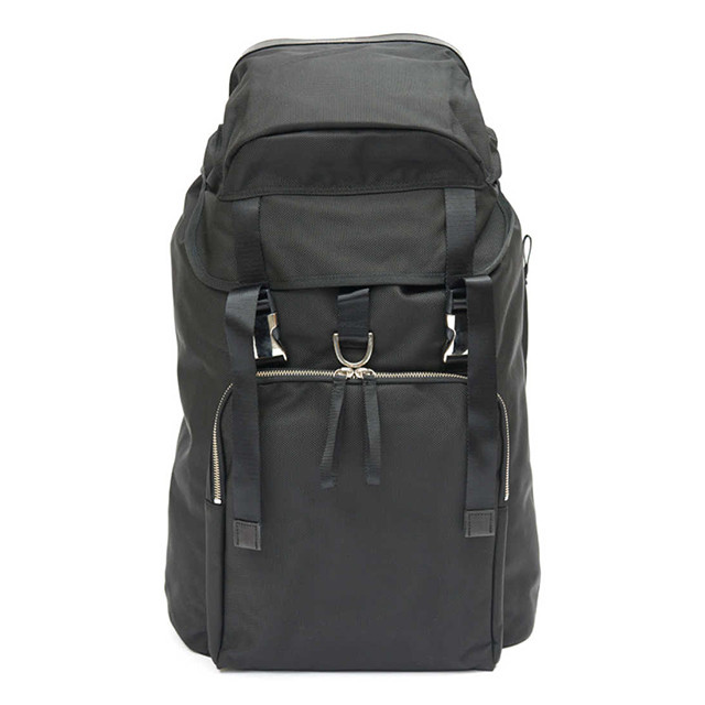 LORINZA Ballistic Nylon Square Pocket Backpack Black