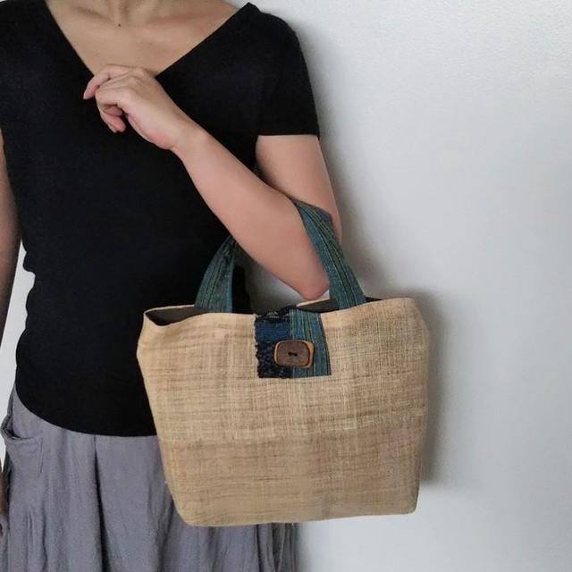 上質な麻和布のバッグ ☆送料無料