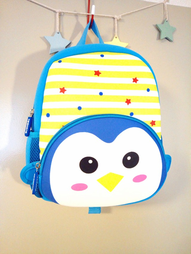 幼稚園!保育園!お散歩の時にリュックに詰め込んでお出かけしよう♪♪可愛いキッズ用ペンギンリュック(ブルー)