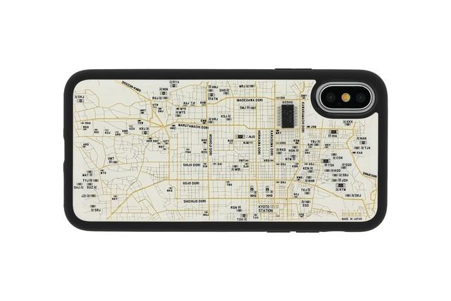 FLASH 京都回路地図 iPhoneX/XSケース 白【東京回路線図A5クリアファイルをプレゼント】
