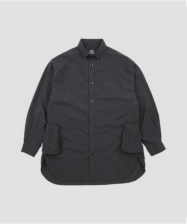 PORTER CLASSIC Weather Shirt Jacket Black PC-026-1181-10