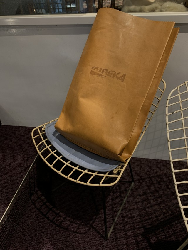 MAISON EUREKA   RECYCLE LEATHER GROCERY BAG