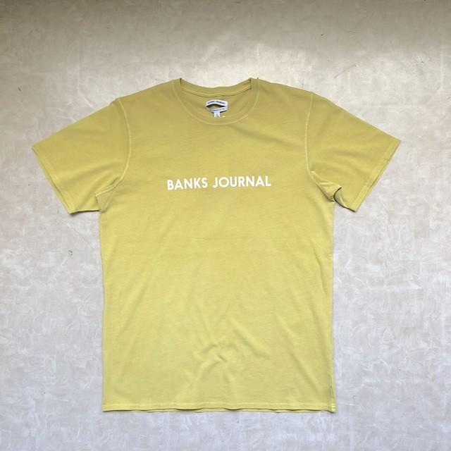 BANKS バンクス LABEL Tシャツ ロゴTシャツ SURF サーフ ATS0281 レモン