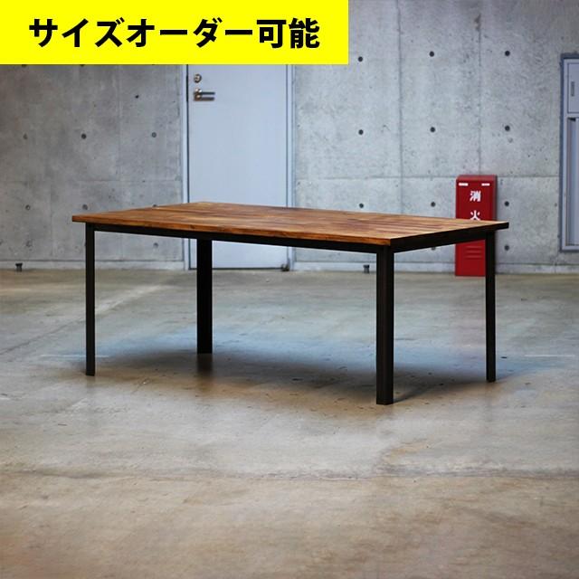オーダー専用ページ|鉄脚型ダイニングテーブル|ブラウン色|横1800mm/奥行900mm/高さ720mm