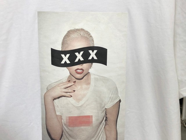 GOD SELECTION XXX LADY GAGA S/S TEE WHITE XL 75JI8550