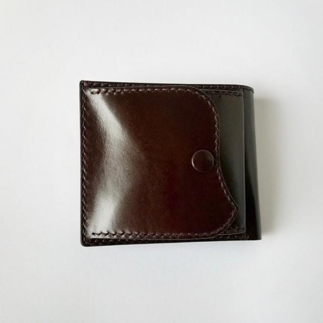 【再販】外ポケットハーフウォレット(焦茶)