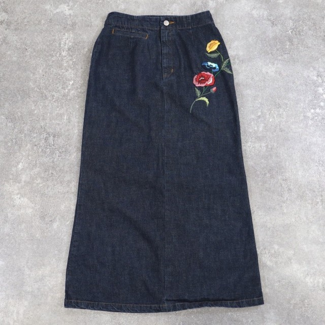 KENZO Flower embroidery skirt