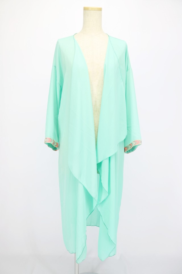 see-through design gown / mint GRN