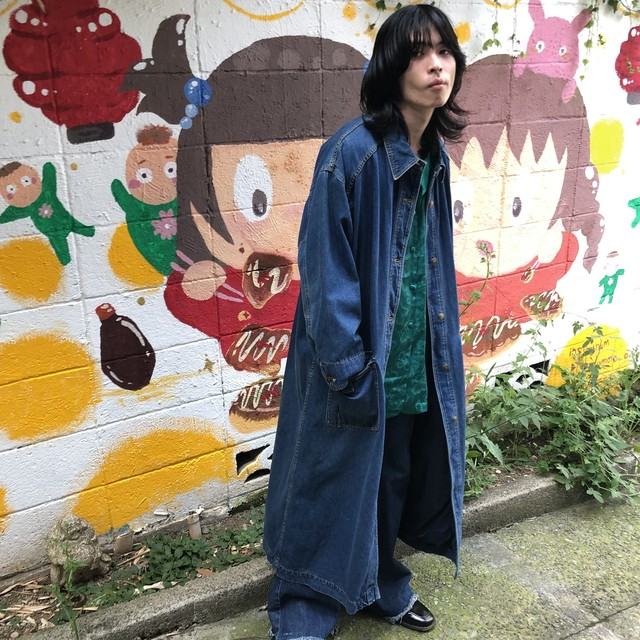"VITAGE""80s LONG DENIM COAT"""