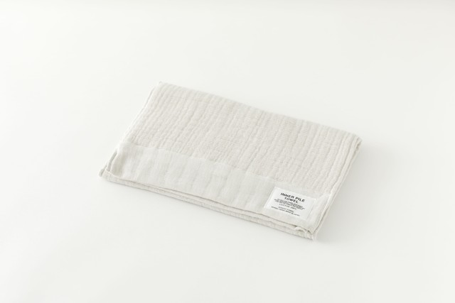 INNER PILE TOWEL : FACE TOWEL (Ivory) / SHINTO TOWEL