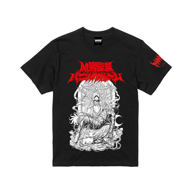 【Cotton100%】Kankin Panicroom Tee (Black×LogoRed)