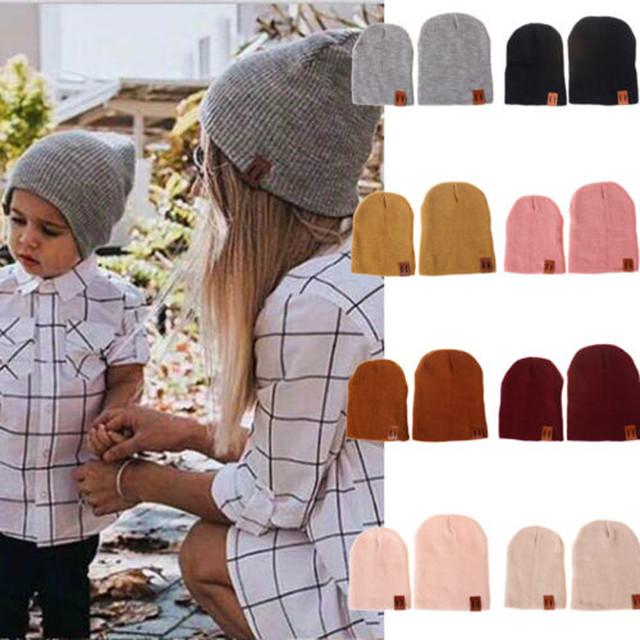 親子コーデ♪お揃いのニット帽でお出かけしませんか?親子ペア同色でセット販売です