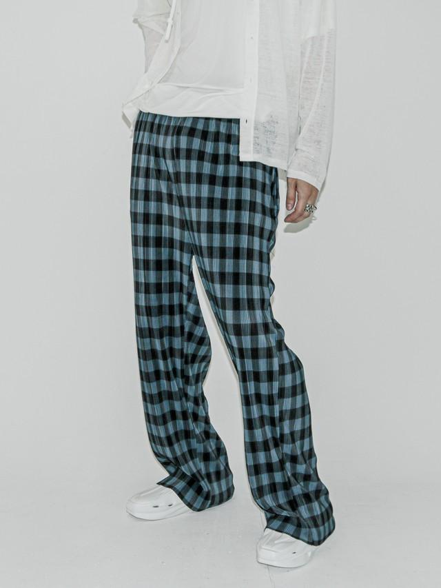 【UNISEX - 1 Size】CHECK PLEAT PANT / 2colors