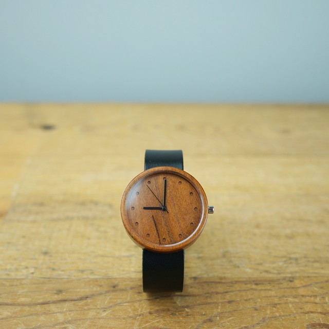 Cherry wood - Organic leather - L