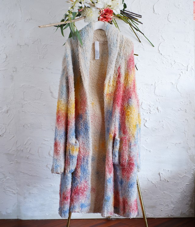 KA WA KEY - AW20KW42.0S - HAND-PAINTED ECO-FUR COAT(身丈・身幅特注) - Sunset