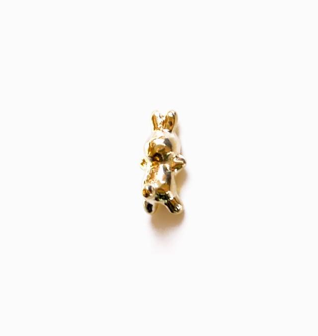 RABBIT CHARMのsnap RING body jewelry K18YG #0007 うさぎボディピアス・チャーム単体/18金イエローゴールド