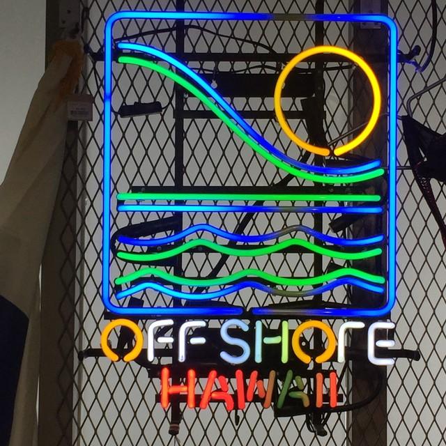 品番0109 ネオンサイン オフショアハワイ OFF SHORE HAWAII ネオン看板 ディスプレイ 011