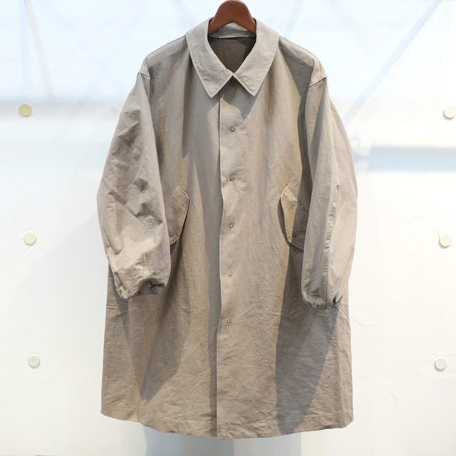 年始の気まぐれ KUON(クオン) 綿和紙 シングルコート カーキ(グレー)