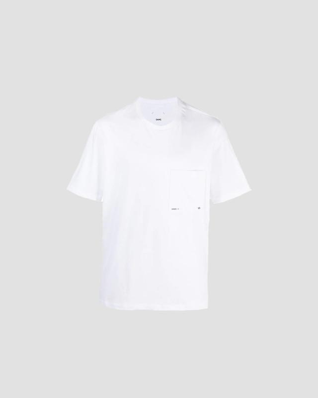 OAMC LOGO POCKET T-SHIRT 100 WHITE OAMS709867