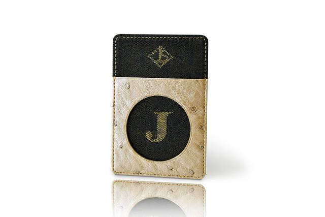 カードケース / 古代錦「J」/ 黒a / OCC-KOD-M62-C2-18