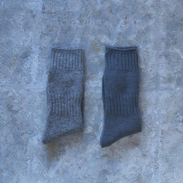 evam eva エヴァムエヴァ wool cashmere rib socks ウールカシミアソックス