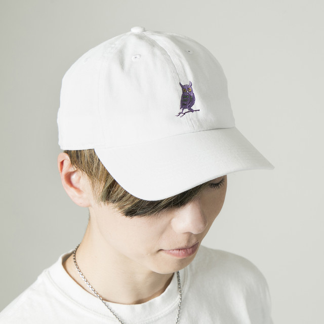 Owl ball cap White
