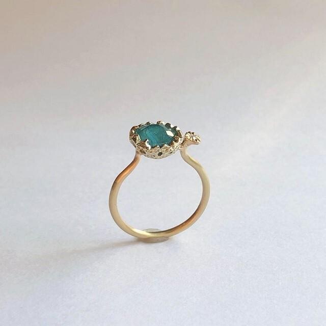1点物・K10リング / グランディディエライト×ダイヤモンド