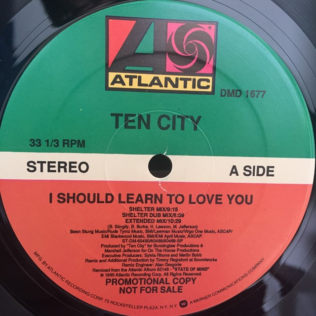 I Should Learn To Love You / Ten City