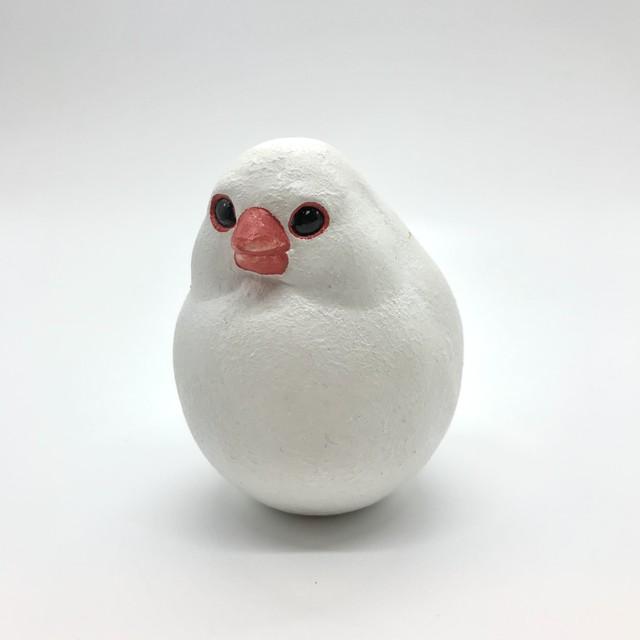 【きゃねこ】 立体作品「メタボ鳥マラカス(小)」文鳥①