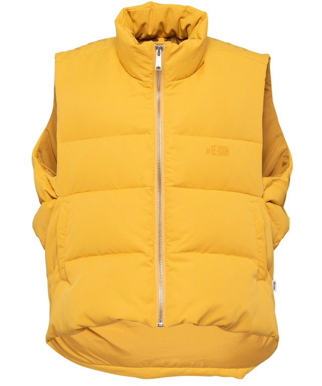 BIG LOGO PRINT NYLON DOWN VEST[REJ034]