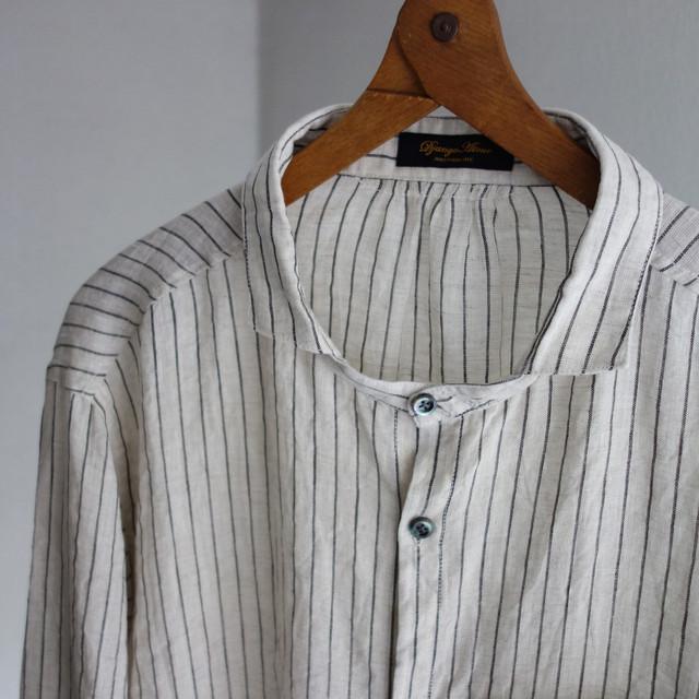 classic frenchwork oldstripe shirt / ecru x blackstripe