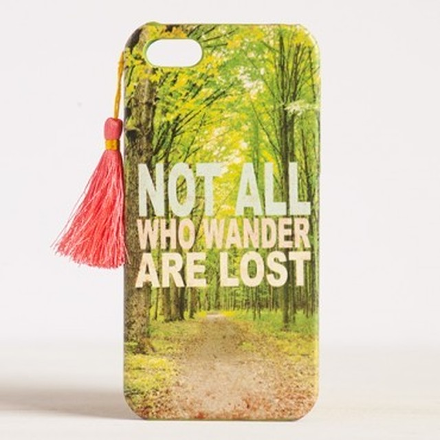 Not All Who Wander Are Lost  iPhone 5 Cover