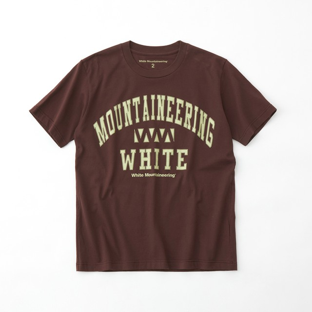 COLLEGE WM LOGO PRINTED T-SHIRT- BROWN