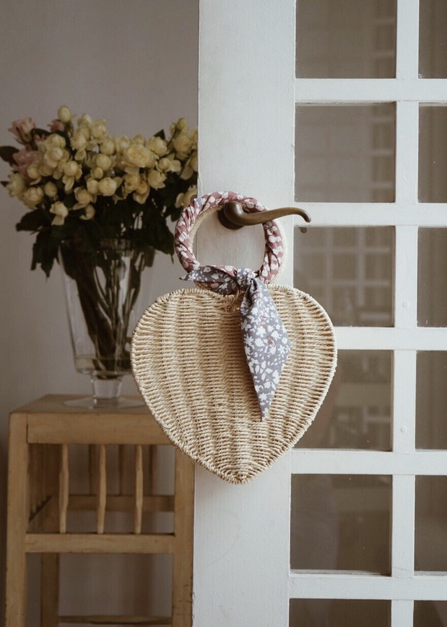 Heart Shaped Basket Bag