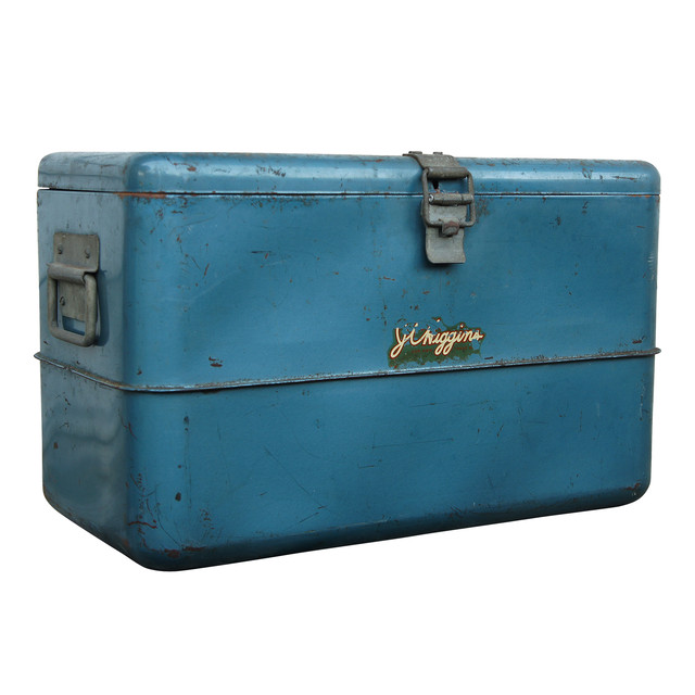 VINTAGE  COOL BOX BLUE