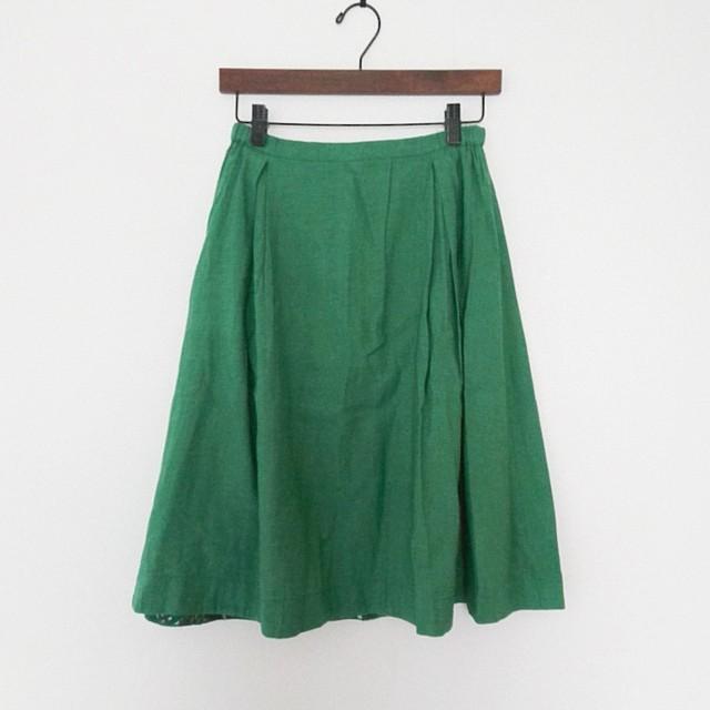 【kapuwa】リネンサイドタックフレアスカート
