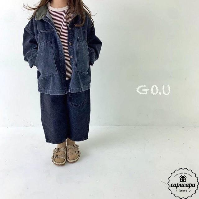 «予約» go.u denim with mom 2colors デニムパンツ ママサイズあり
