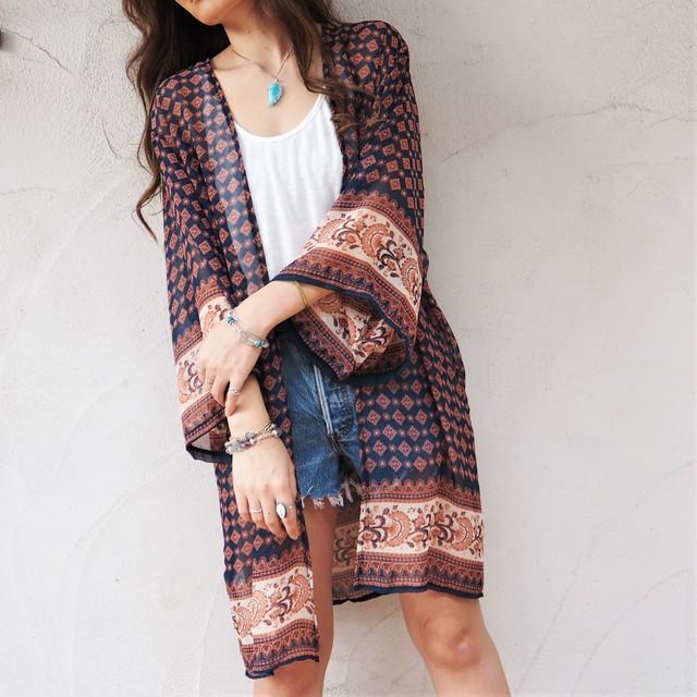 Chiffon Kimono Cardigan B《NVY》18383085-b  S5