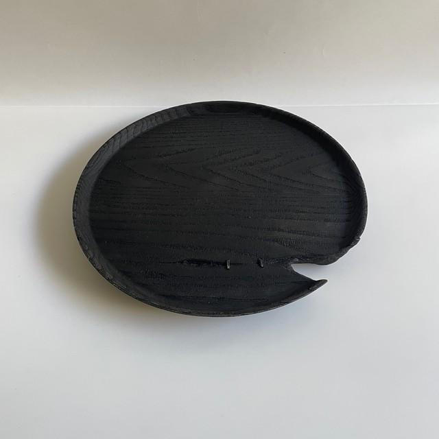 6-1 Shimoo Design  浮様 丸盆 300 銀の鎹