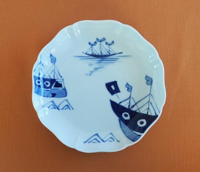 405 クラシック・シリーズ 八方割5寸皿 オランダ船