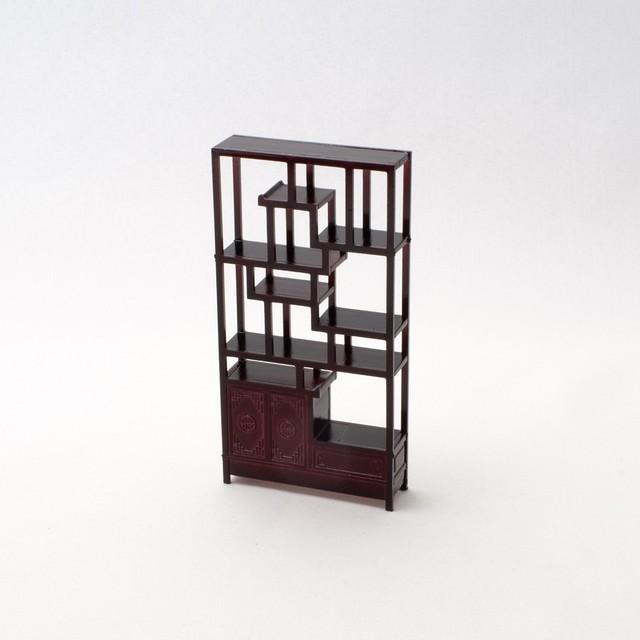 中国風ミニチュア家具/博古架A(樹脂製)