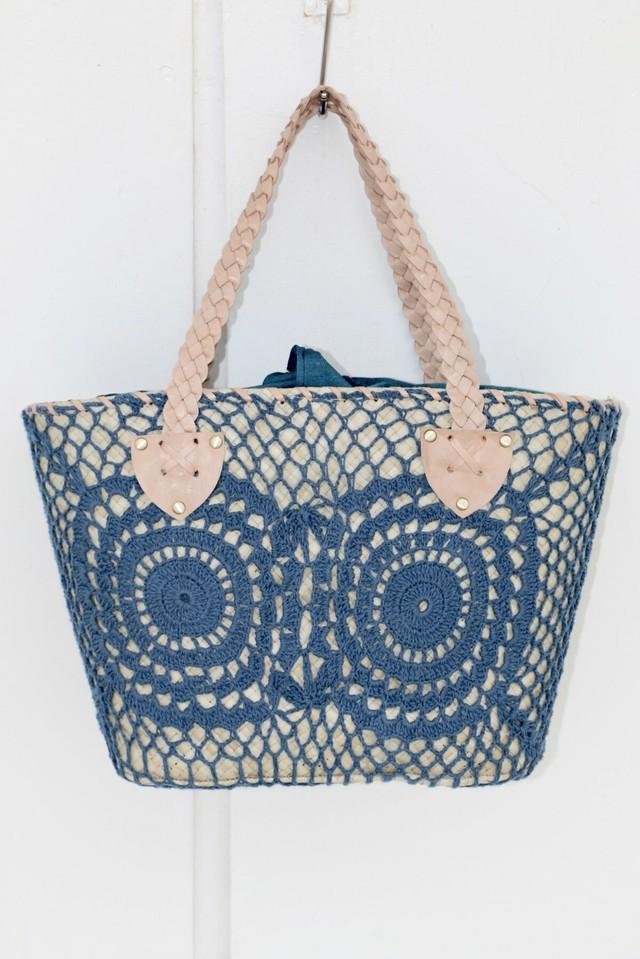◆Mon ange Louise◆ BAG DENTELLE(blue)かごバッグ