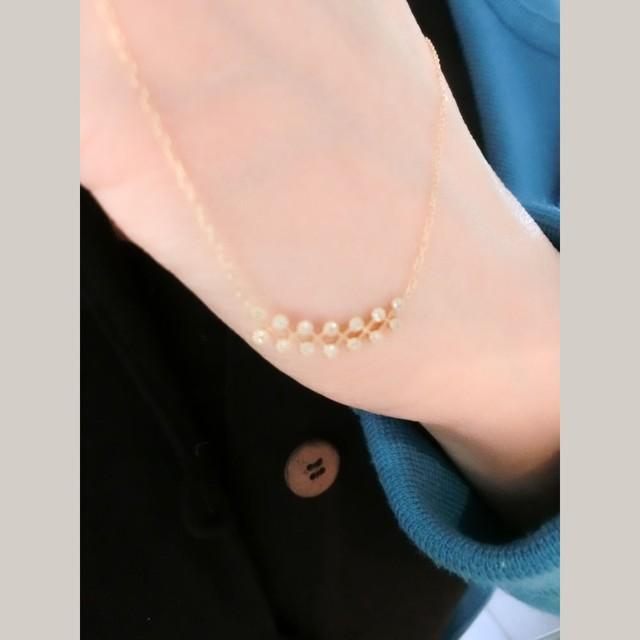 K18イエローゴールドダイヤモンドデザインペンダント