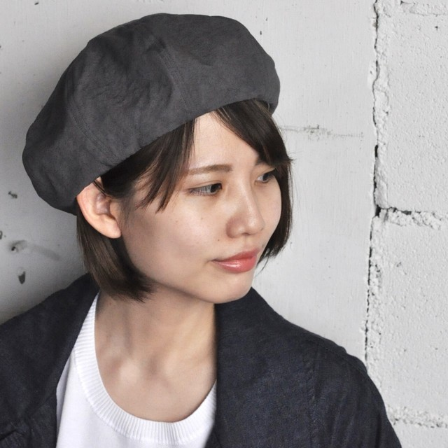 Chapeaugraphy cotton×linen Weather Beret