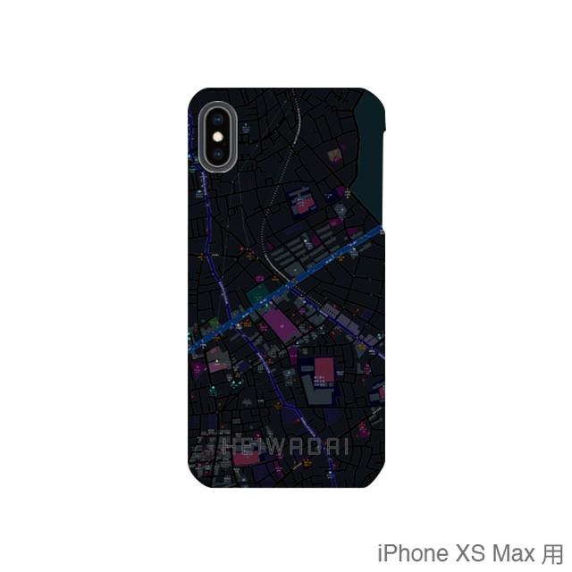 【平和台】地図柄iPhoneケース(バックカバータイプ・ブラック)