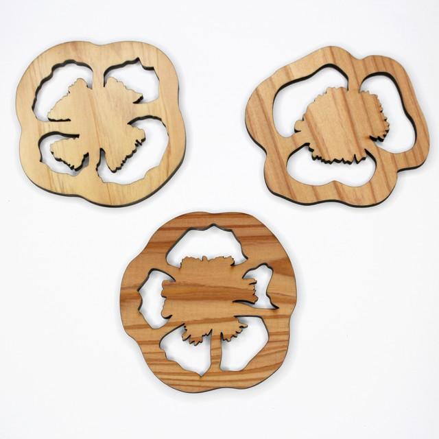 杉のコースター 5枚セット(組み合わせ自由)