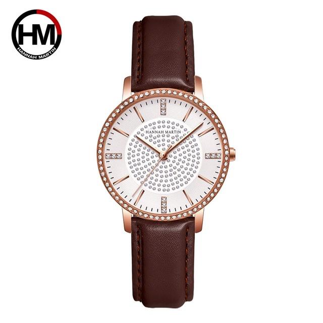 女性用時計フルダイヤモンド日本製クォーツラインストーン腕時計高級女性用ドレス時計RelogioFeminino Drop Shipping1074PH1