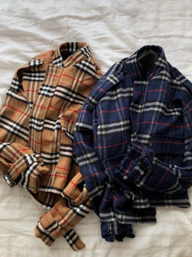 BBチェックショートジャケット ★UNISEX  アウター ジャケット 韓国ファッション