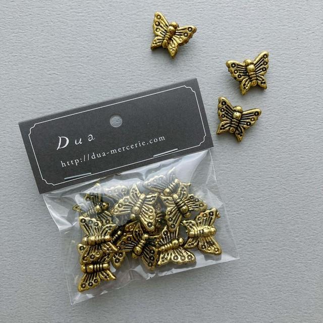 ゴールド蝶々ビーズパック(12p)